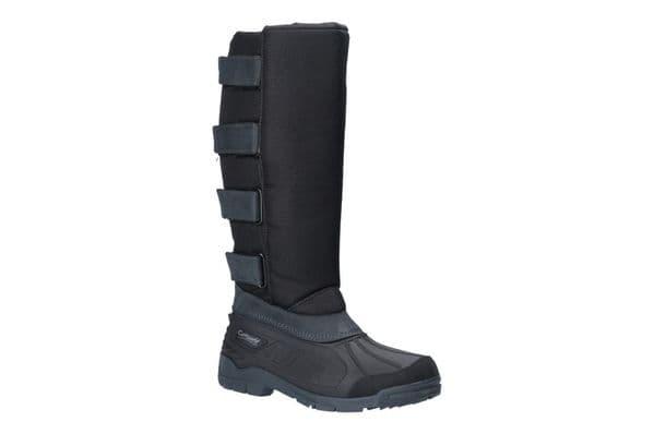 Cotswold Kemble Textile / Weather Wellingtons Black